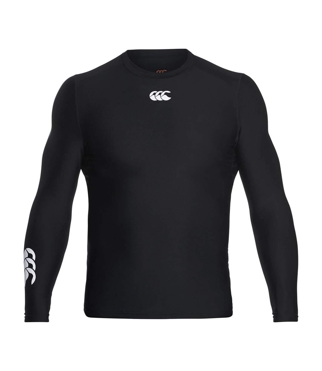 Canterbury Mens ThermoReg Long Sleeve Base Layer Top (Black) - UTPC2842