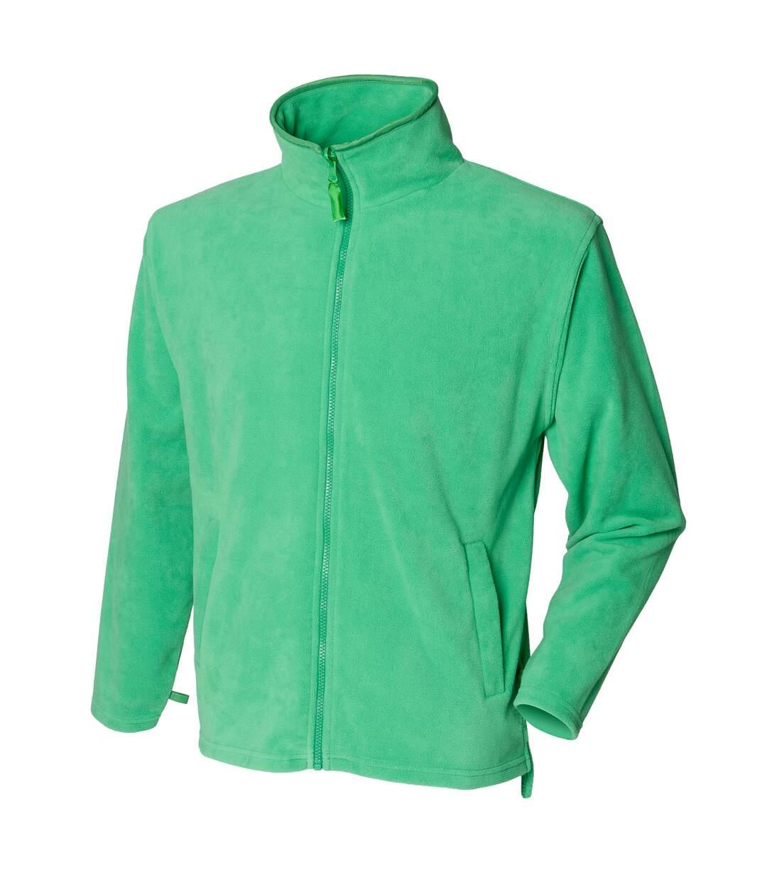 Henbury Mens Microfleece Anti-Pill Jacket (Kelly) - UTRW678