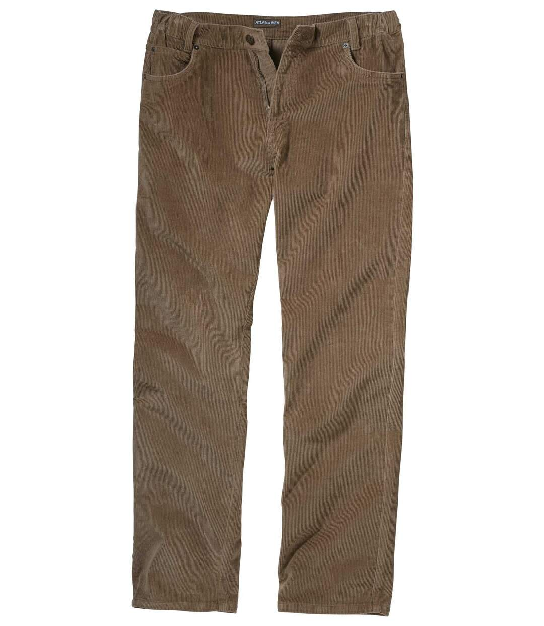 Men's Brown Stretchy Corduroy Trousers