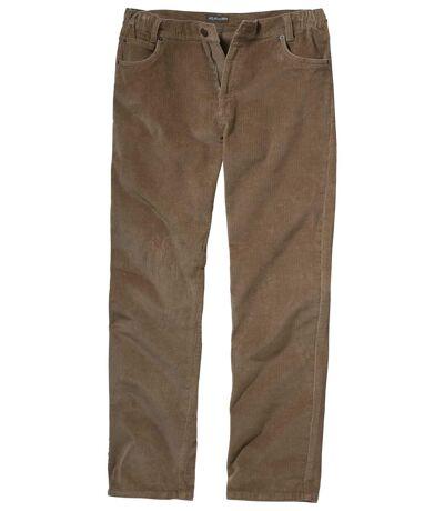 Men's Brown Stretchy Corduroy Pants