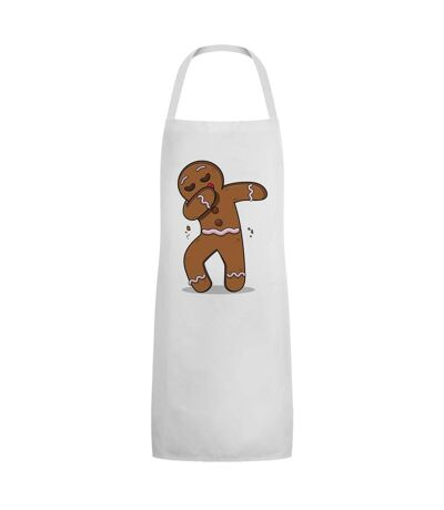 Grindstore Unisex Adult Gingerbread Man Dab Full Apron (White/Brown) (One Size) - UTGR3984