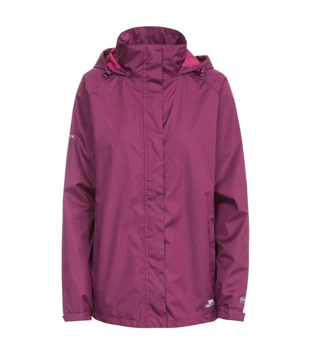 Trespass Womens/Ladies Lanna II Waterproof Jacket (Grape Wine) - UTTP3279