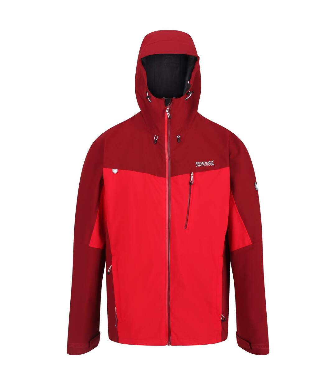 Regatta Mens Birchdale Waterproof Hooded Jacket (True Red/Delhi Red) - UTRG3474