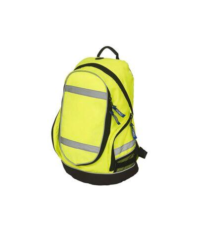Yoko High Visibility London Rucksack/Backpack (Yellow) (One Size) - UTRW4917