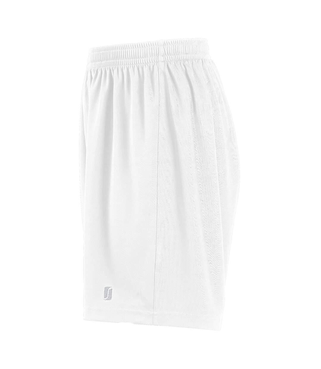 SOLS Mens San Siro 2 Sport Shorts (White) - UTPC2177
