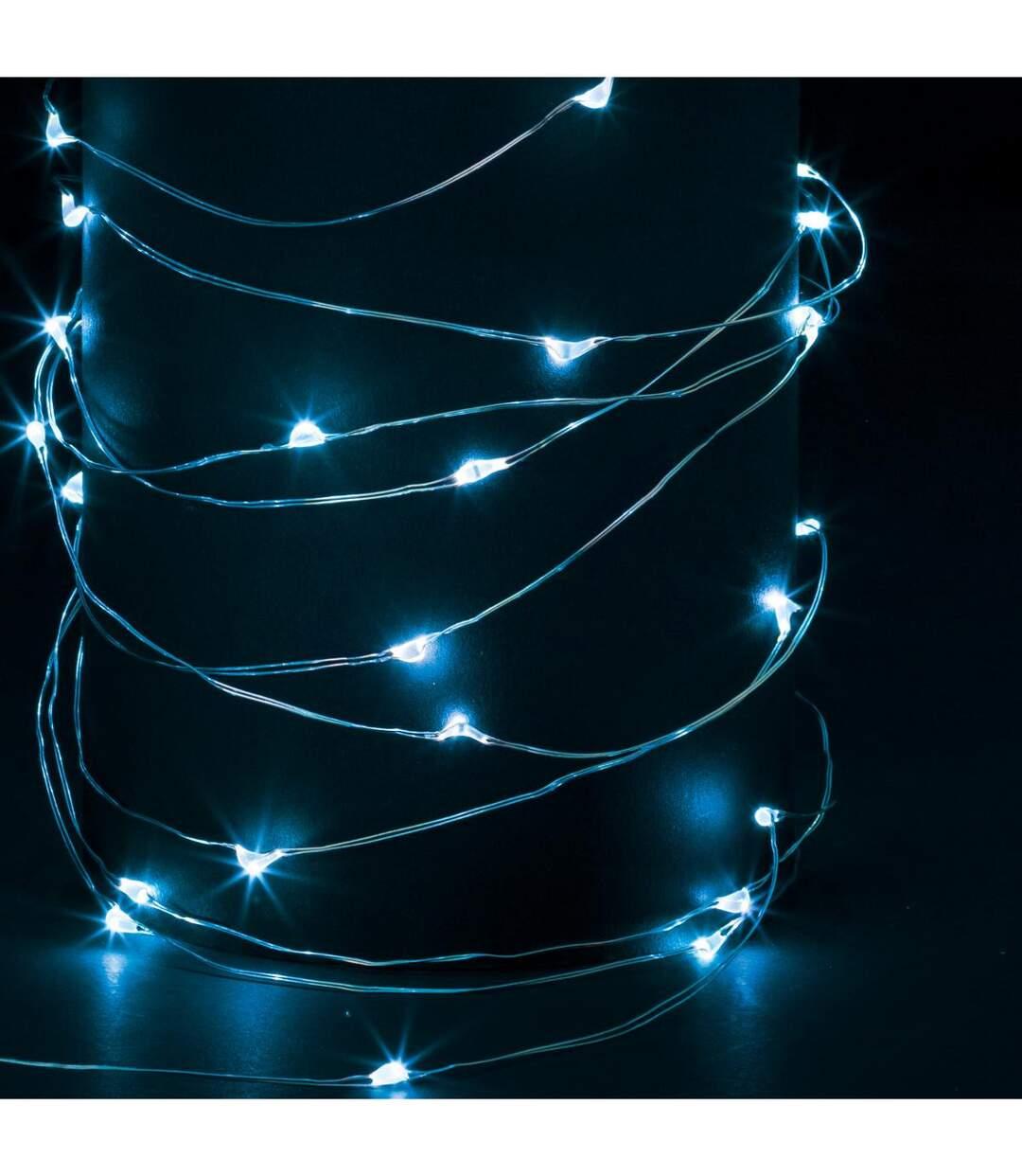 Feeric Christmas - Guirlande Lumineuse Intérieure et Extérieure 20 m 200 MicroLED Bleu lumière fixe