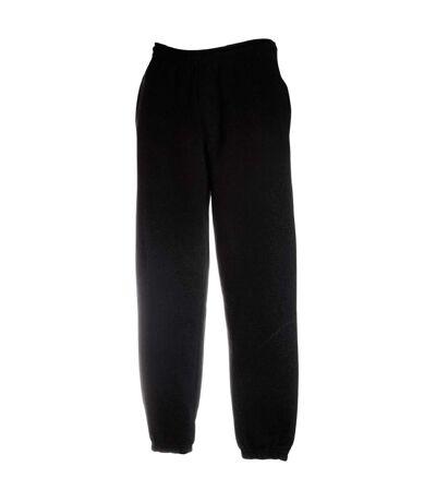 Fruit Of The Loom Mens Elasticated Cuff Jog Pants / Jogging Bottoms (Black) - UTBC395