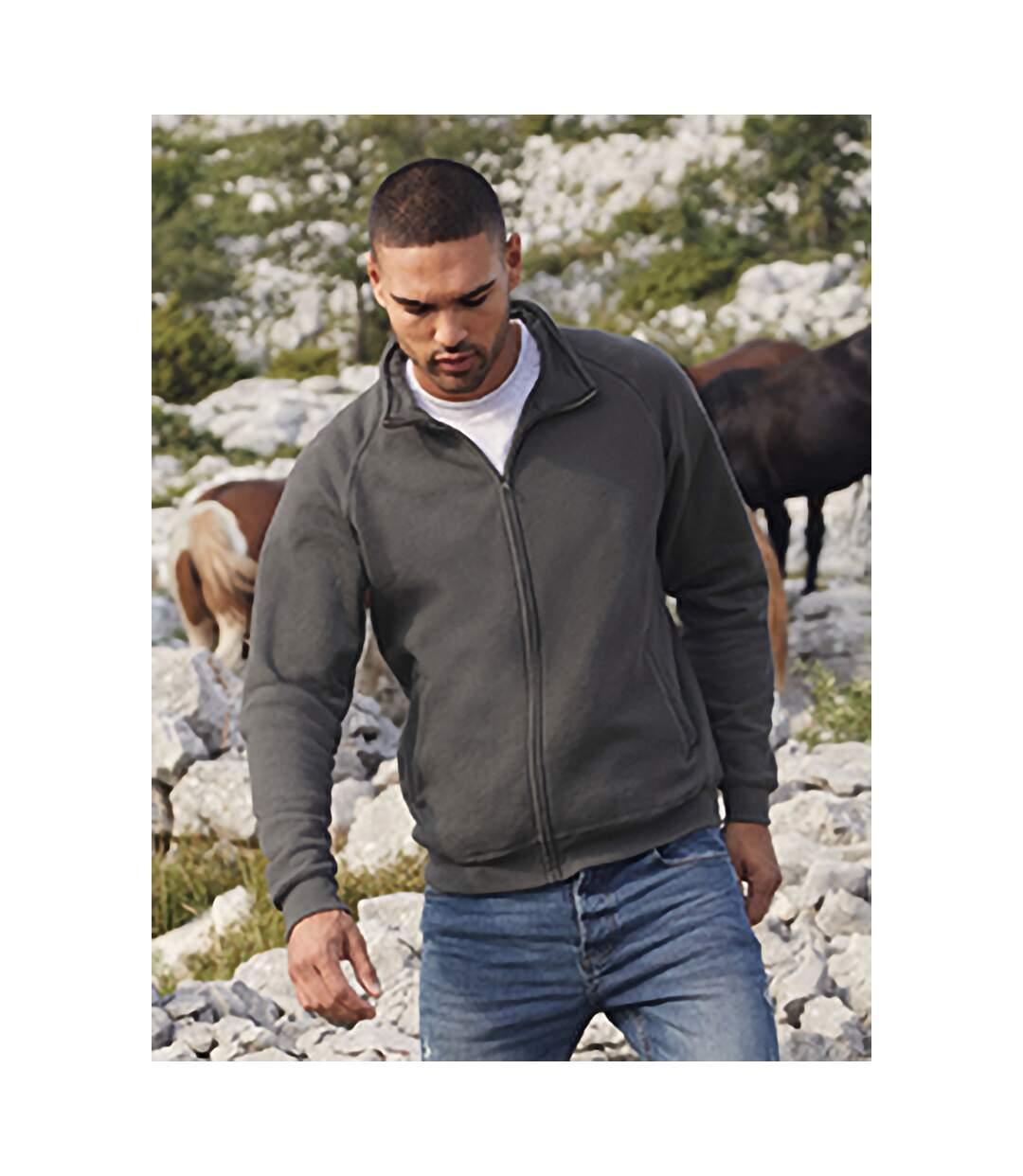 Fruit Of The Loom Mens Sweatshirt Jacket (Light Graphite) - UTBC1375