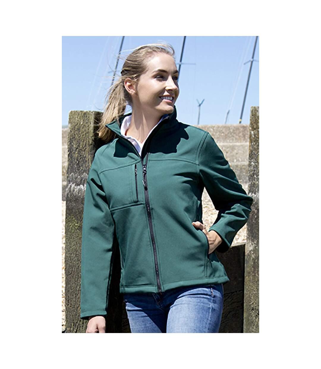 Result Womens Softshell Premium 3 Layer Performance Jacket (Waterproof, Windproof & Breathable) (Bottle Green) - UTBC2045