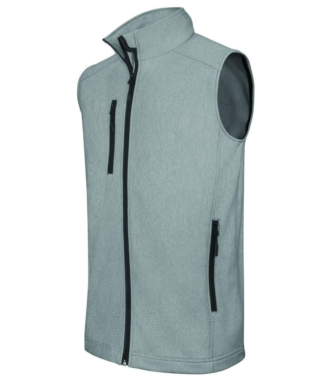Bodywarmer softshell - gilet sans manches - K403 - gris merle - Homme