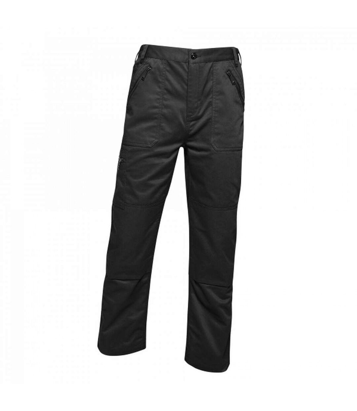 Regatta Mens Pro Action Waterproof Trousers - Regular (Traffic Black) - UTRG3751