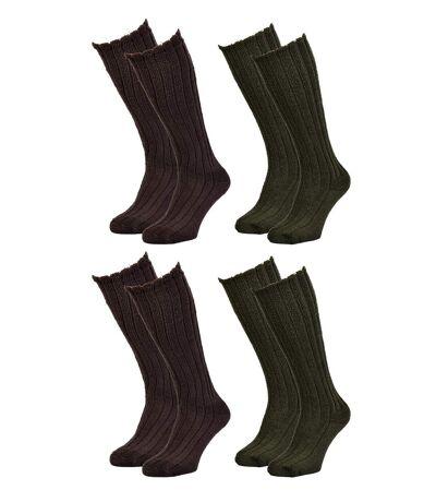 Chaussettes de Travail TRACTO pour Homme Résistance et Qualité Pro Pack de 4 TRACTO Mi Bas Assorti