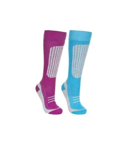 Trespass - Chaussettes de ski JANUS - Femme (Violet/bleu clair) - UTTP4530