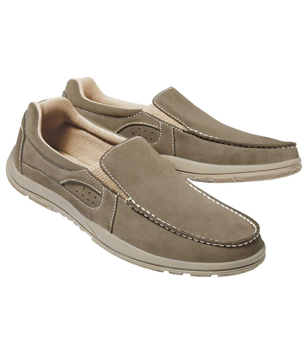 Men's Taupe Relax Moccasins