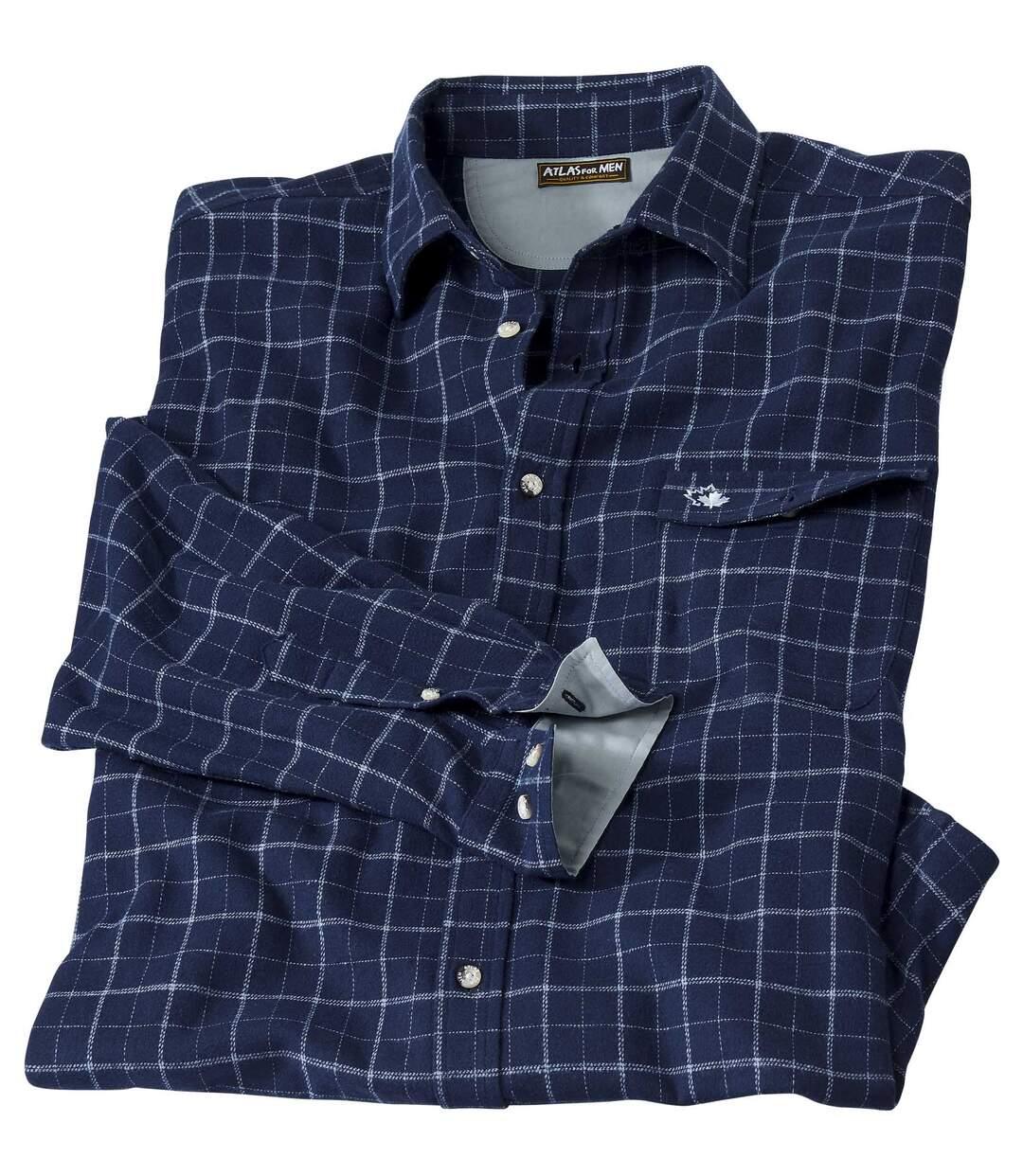 Flanelowa koszula w niebieskąkratę