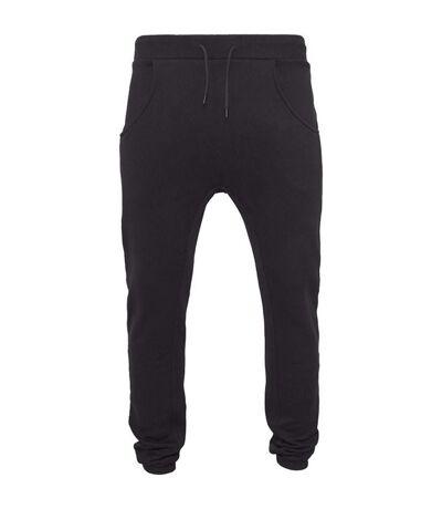 Build Your Brand Mens Heavy Deep Crotch Sweatpants (Black) - UTRW5679