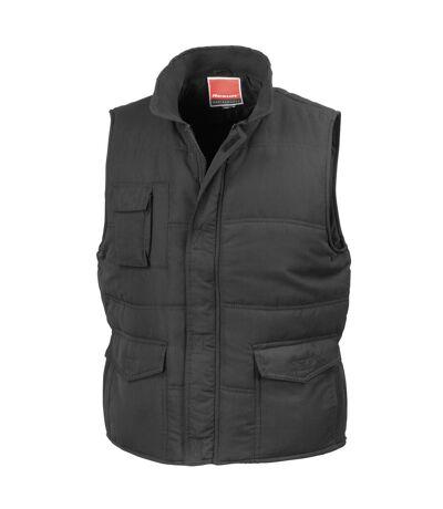Result Mens Mid-Weight Bodywarmer Showerproof Windproof Jacket (Black) - UTBC939
