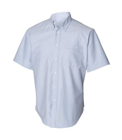 Henbury Mens Short Sleeve Classic Oxford Work Shirt (Blue) - UTRW639