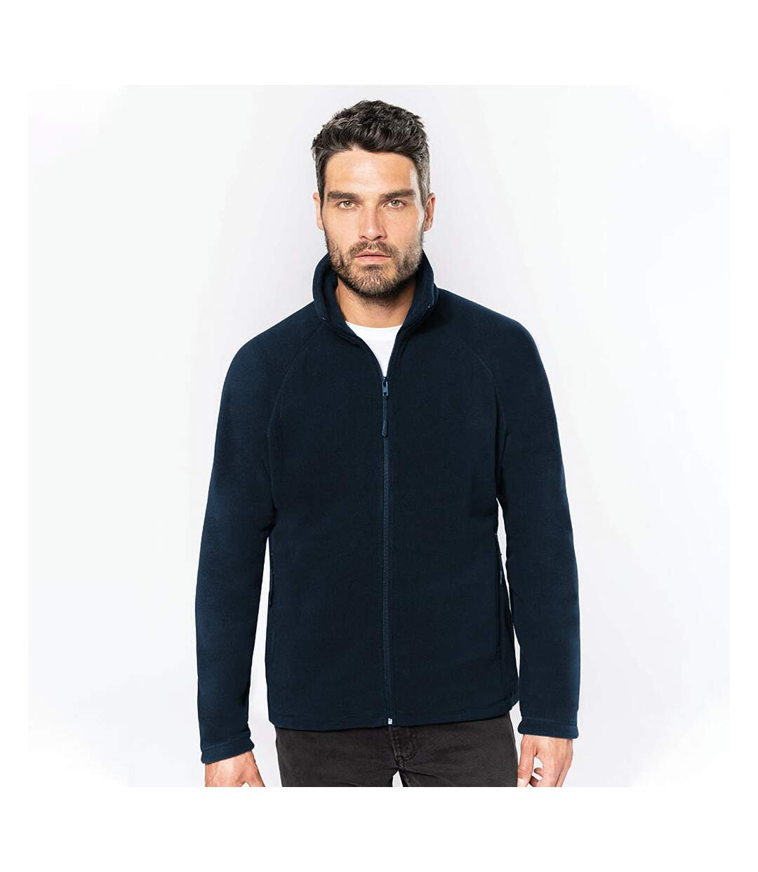 Kariban Mens Full Zip Microfleece Jacket (Navy) - UTRW5625