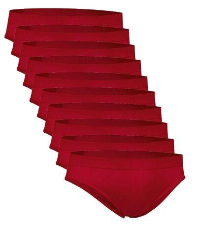 Lot 10 slips pour Homme - rouge - ZEUS
