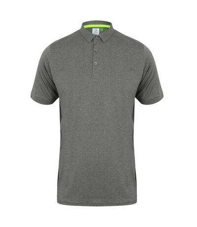 Tombo Mens Short Collar Short Sleeve Polo Shirt (Grey Marl/Grey) - UTRW5467