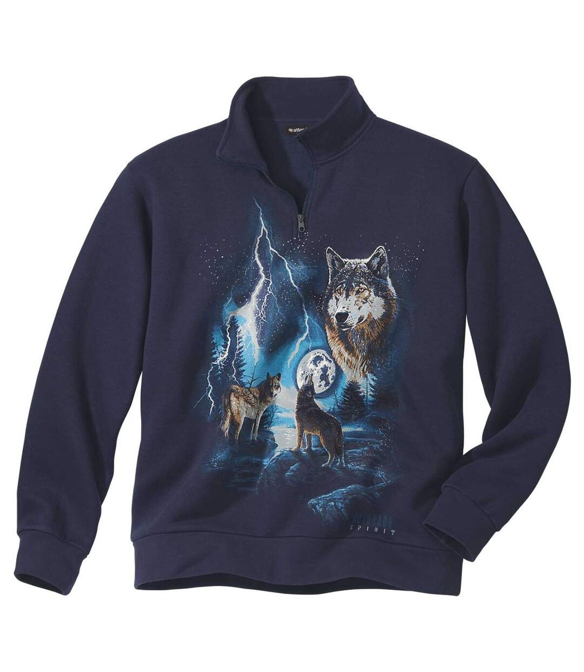 Molton sweater Wild Forest Atlas For Men