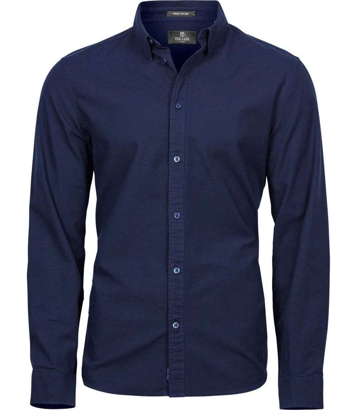 Chemise homme Casual Oxford - 4010 - bleu marine - manches longues