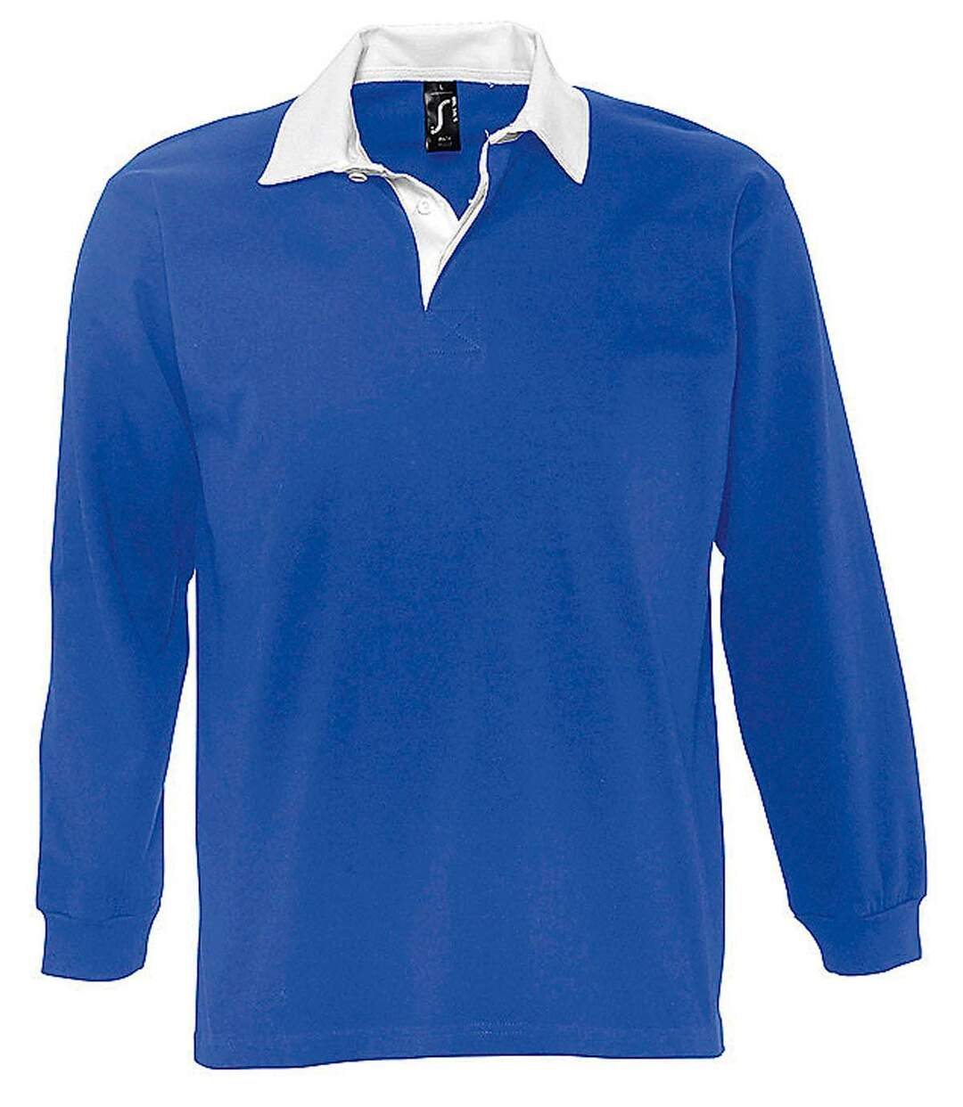 Polo rugby manches longues HOMME - 11313 - bleu royal