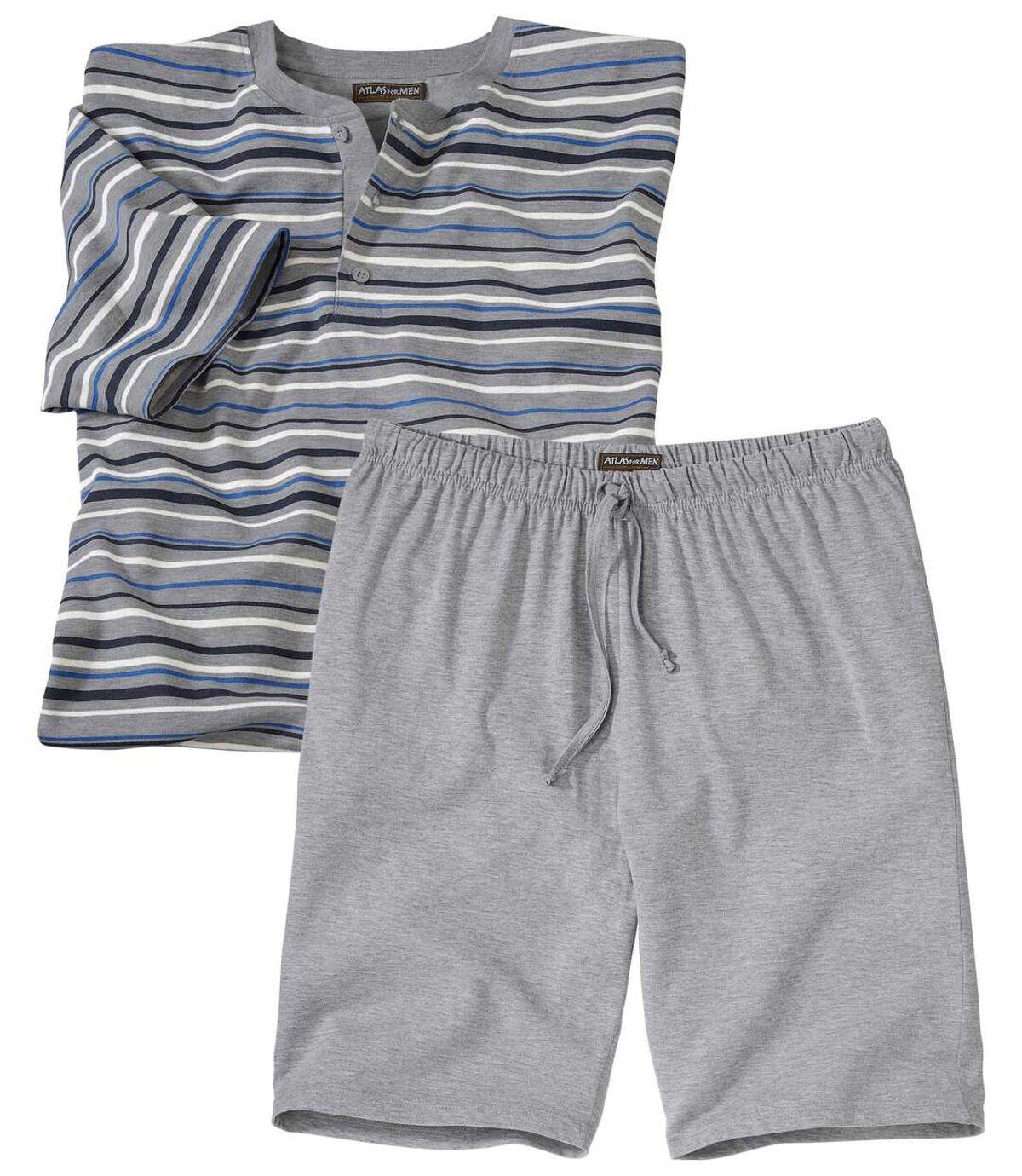 Men's Grey Short Pyjama Set Atlas For Men