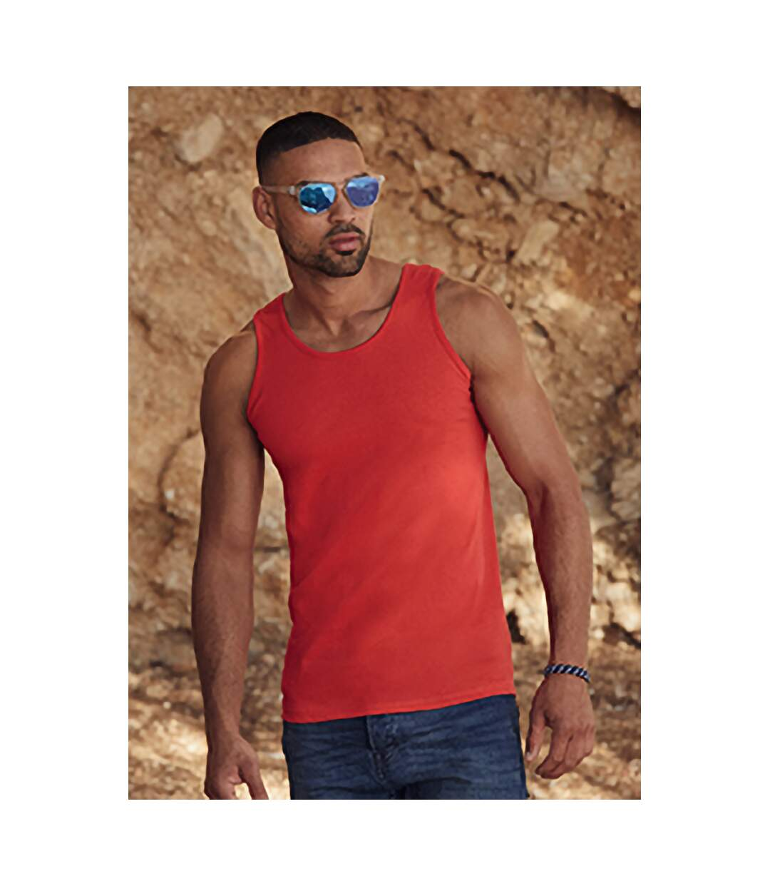 Fruit Of The Loom Mens Athletic Sleeveless Vest / Tank Top (Red) - UTBC341