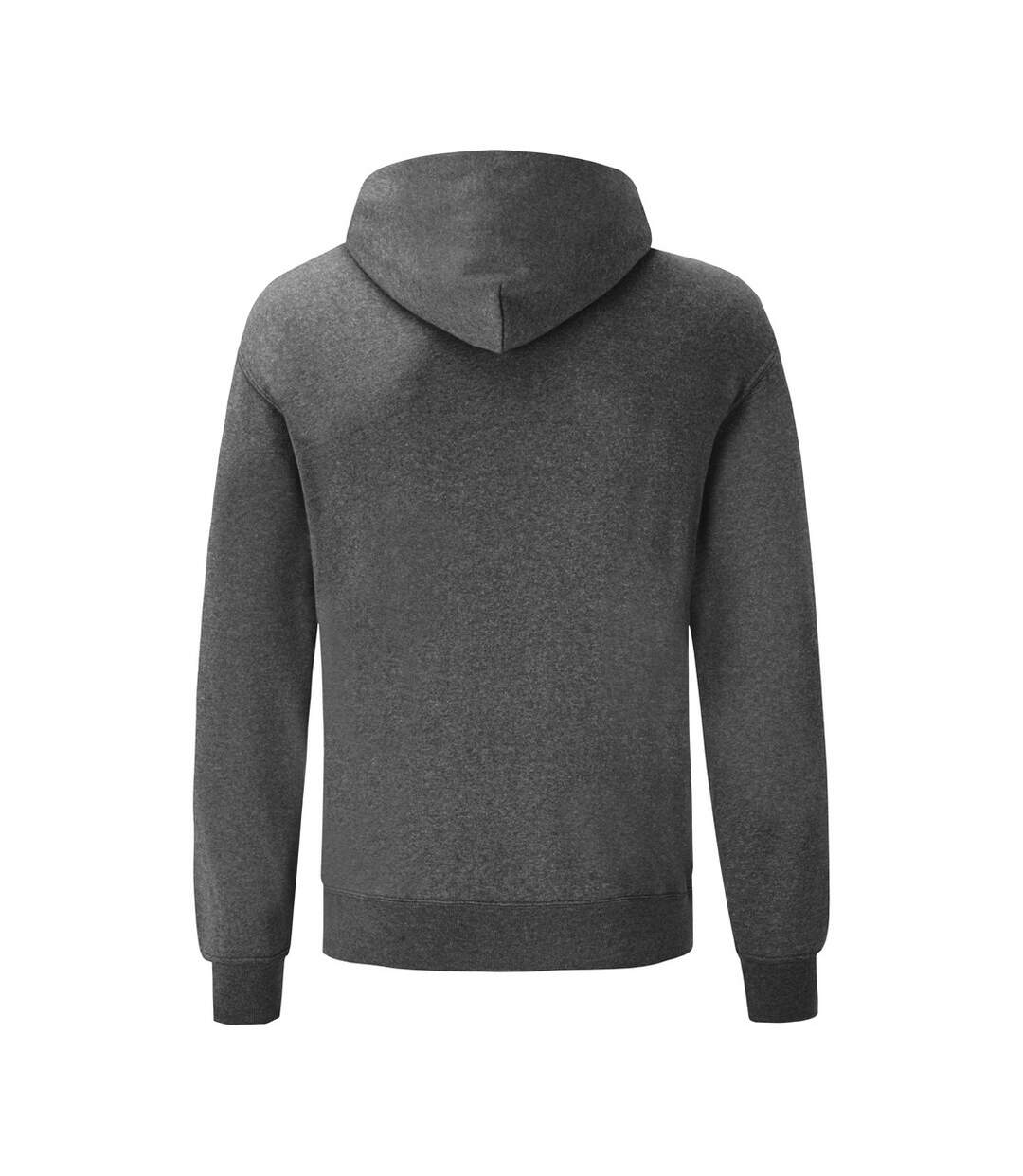Fruit Of The Loom Mens Hooded Sweatshirt / Hoodie (Dark Heather) - UTBC366