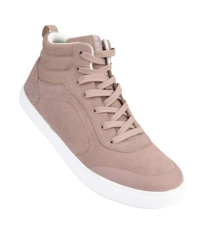 Dare 2B Womens/Ladies Cylo High Top Suede Trainers (Mink Pink) - UTRG4744