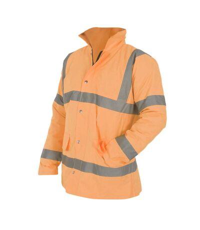 Yoko Mens Hi-Vis Road Safety Jacket (Pack of 2) (Hi Vis Orange) - UTBC4399