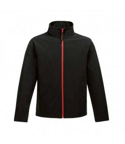Regatta Mens Ablaze Printable Softshell Jacket (Black/Classic Red) - UTRG3560