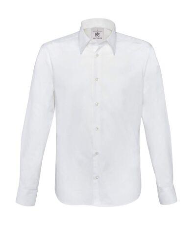 B&C London - Chemise à manches longues en popeline - Homme (Blanc) - UTRW3040