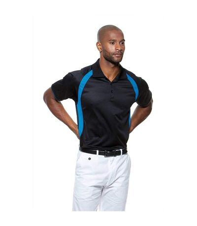 Gamegear® Mens Cooltex® Riviera Polo Shirt / Mens Sportswear (Black/Orange) - UTBC434