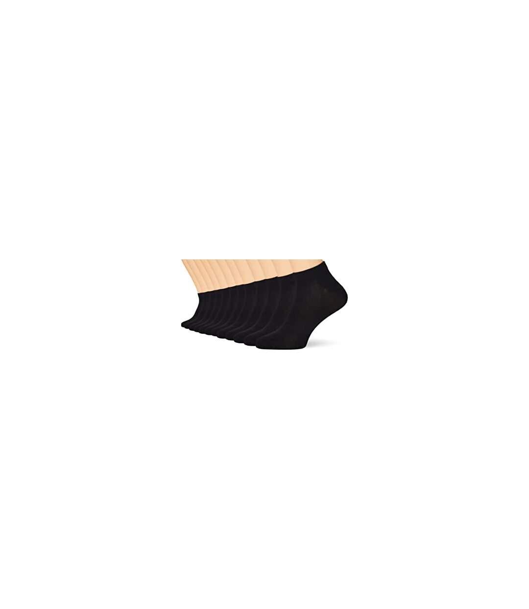 FM London Men's Bamboo Trainer Ankle Socks - Black (Pack of 12)