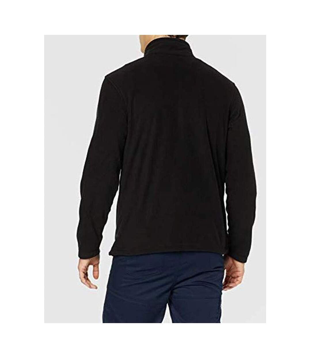 Regatta Mens Plain Micro Fleece Full Zip Jacket (Layer Lite) (Black) - UTBC2042