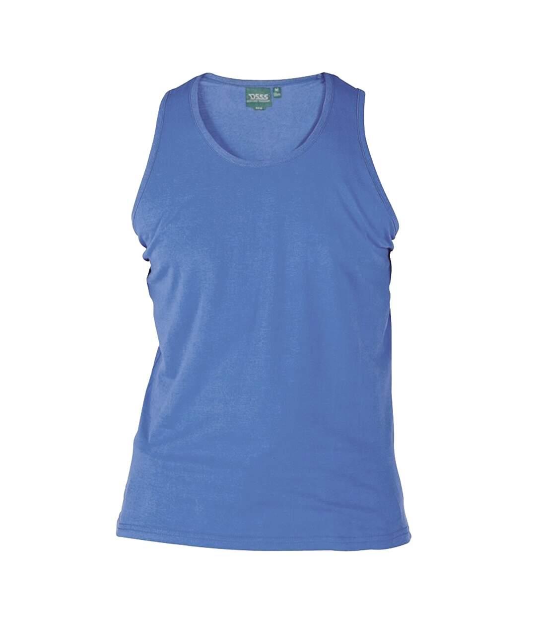 Duke Mens Fabio-2 Kingsize Muscle Vest (Blue) - UTDC172