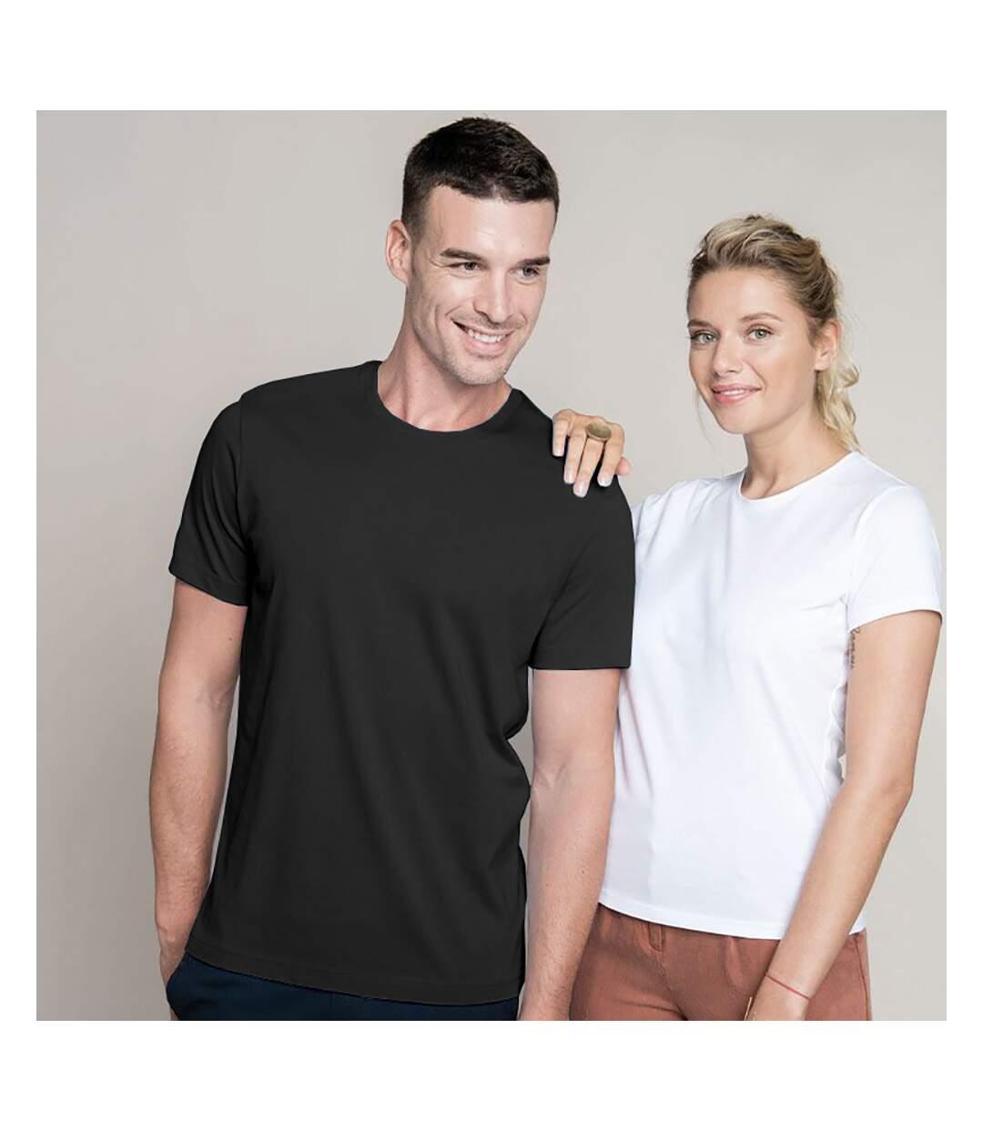 Kariban Mens Slim Fit Short Sleeve Crew Neck T-Shirt (Black) - UTRW706