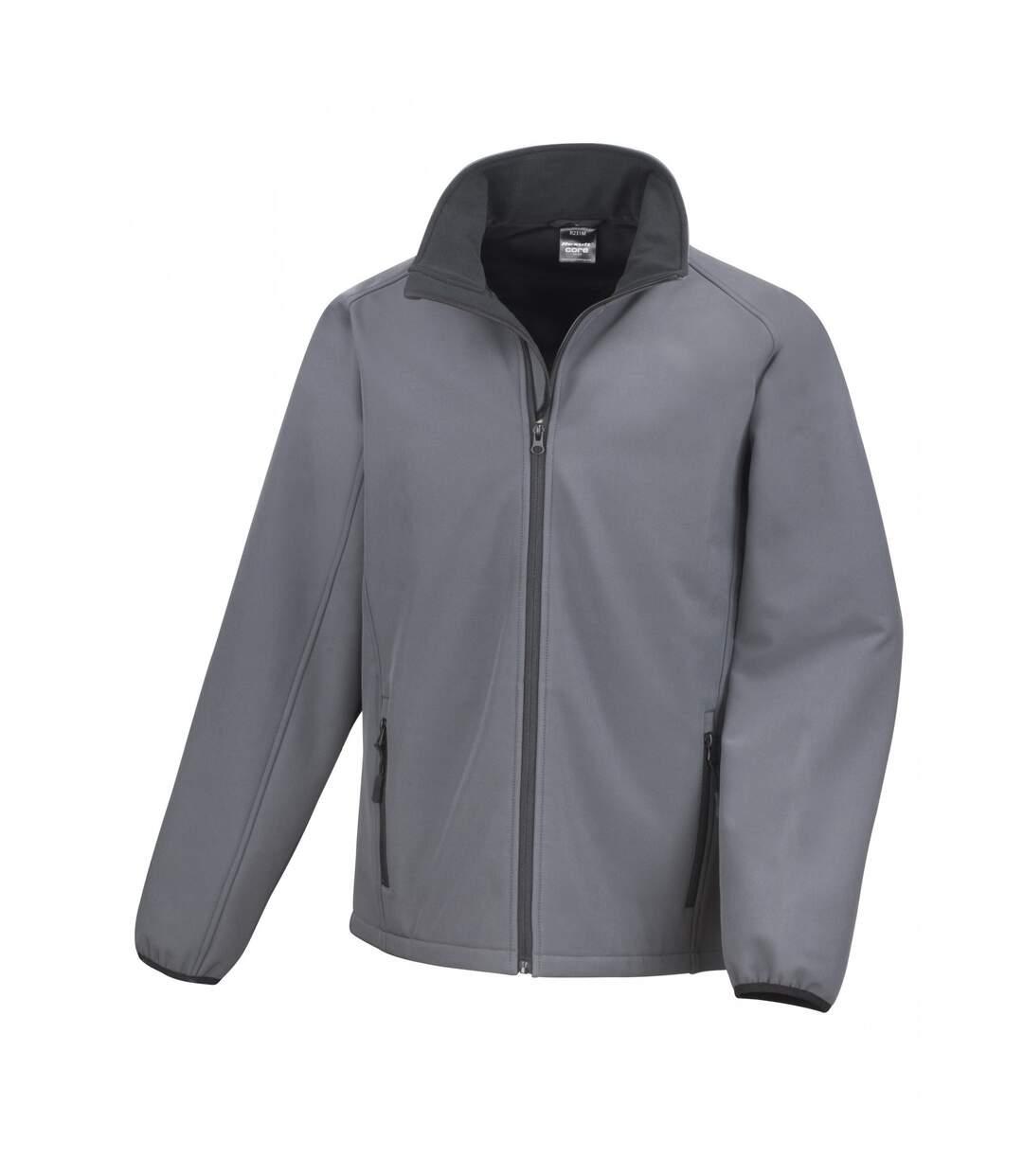 Result Mens Core Printable Softshell Jacket (Black / Black) - UTRW3697