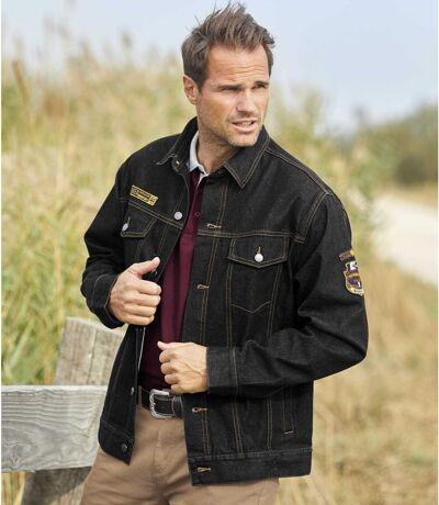 Men's Stylish Black Denim Jacket