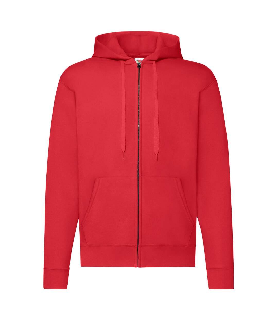 Fruit Of The Loom Mens Hooded Sweatshirt (Red) - UTBC1369