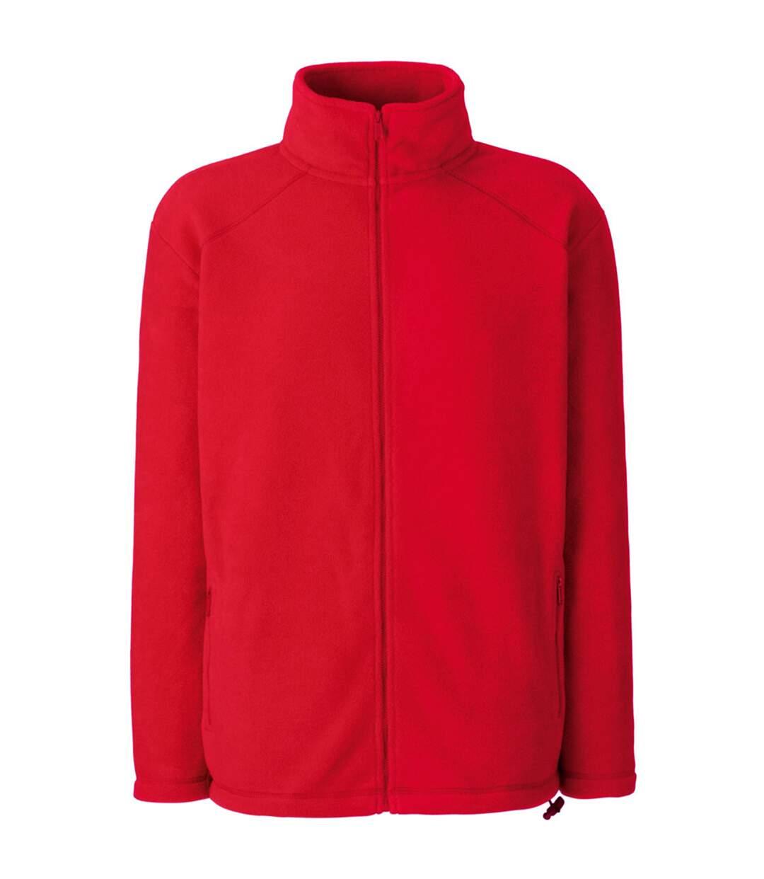 Fruit Of The Loom Mens Full Zip Outdoor Fleece / Top (Red) - UTBC372