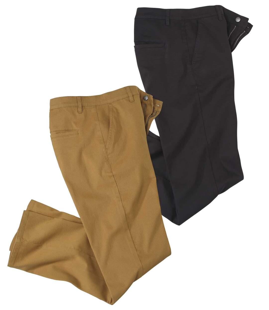 Zestaw 2 par spodni chino