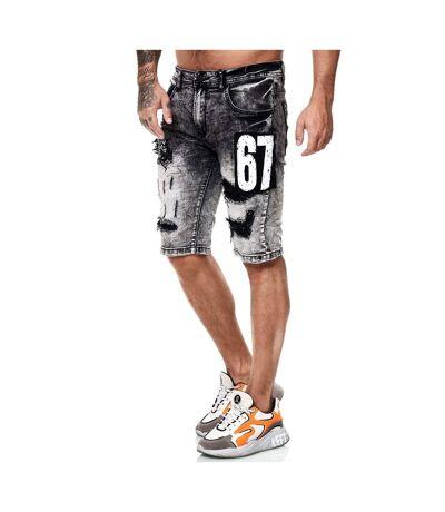 Bermuda homme en jeans Bermuda 7515 gris