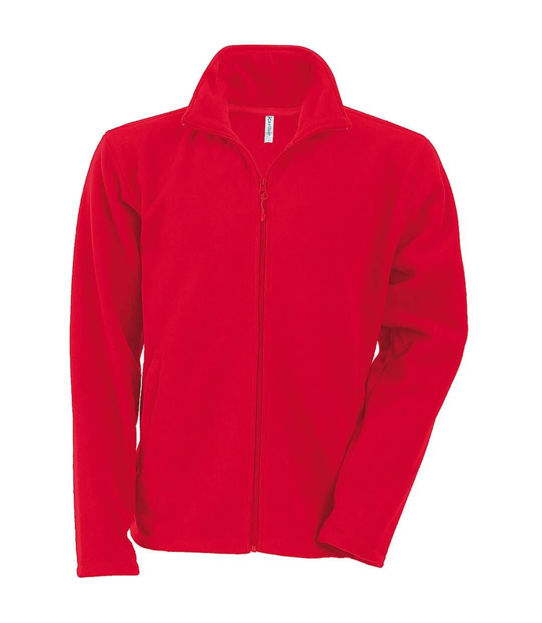 Kariban Mens Falco Full Zip Anti Pill Fleece Jacket (Red) - UTRW737