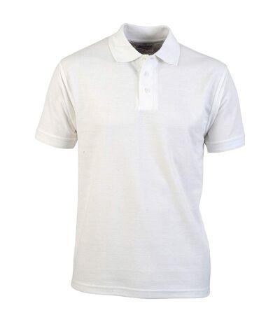 Absolute Apparel Mens Precision Polo (White) - UTAB105