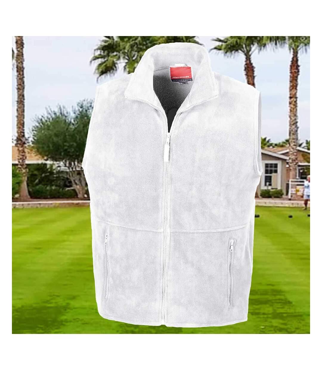 Result Mens Active Anti Pilling Fleece Bodywarmer Jacket (White) - UTBC923