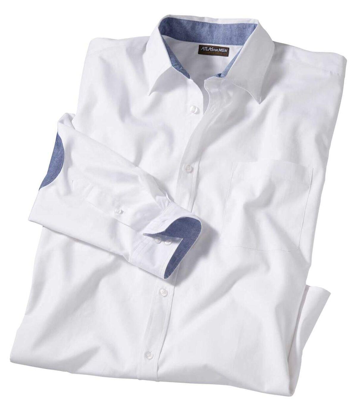 Men's White Poplin Shirt Atlas For Men